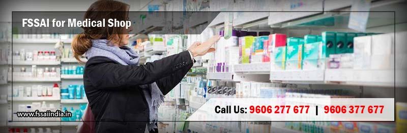 FSSAI Registration & Food Safety License for Medical Shop